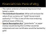 financial crisis panic of 1873
