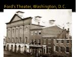 ford s theater washington d c