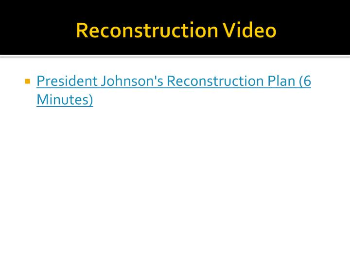 Reconstruction Video