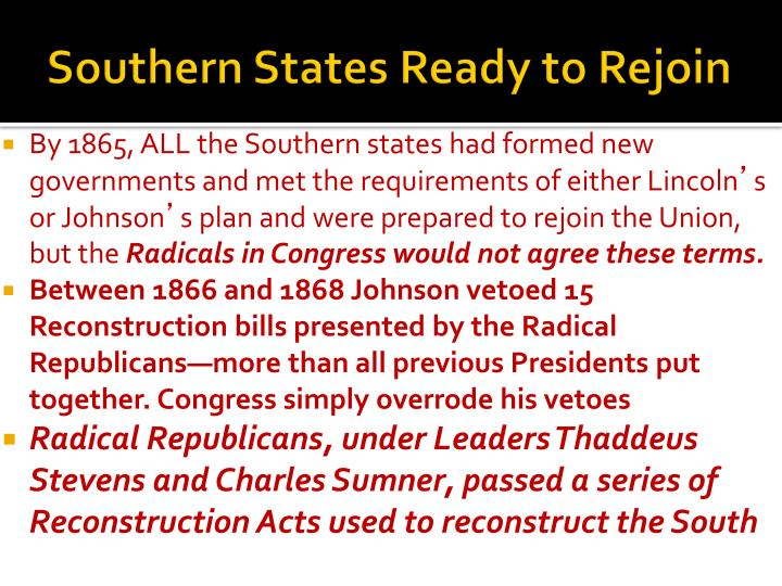 Southern States Ready to Rejoin