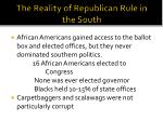 the reality of republican rule in the south
