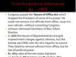 time for andrew johnson to go 1868