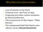why reconstruction ended