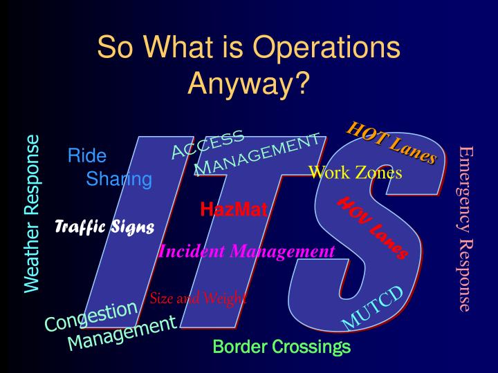 So What is Operations Anyway?