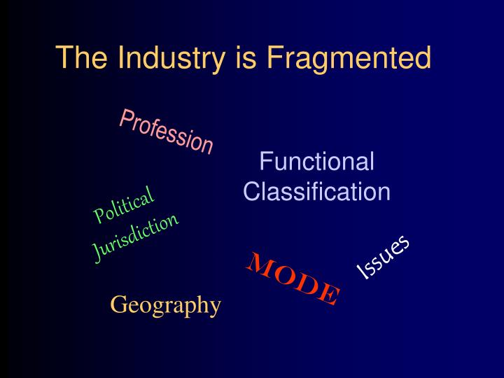 The Industry is Fragmented