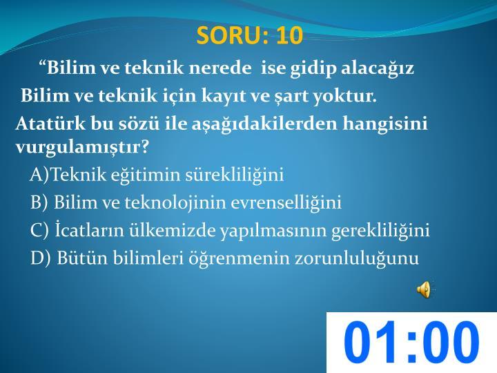 SORU: 10