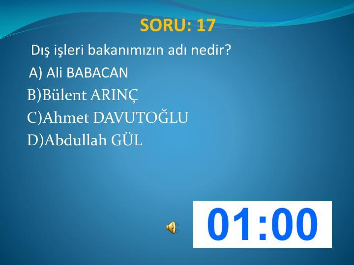 SORU: 17