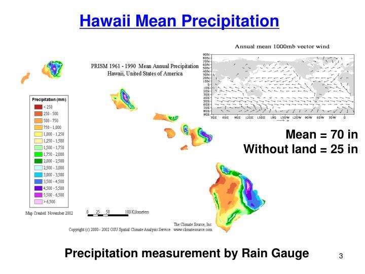 Hawaii Mean Precipitation