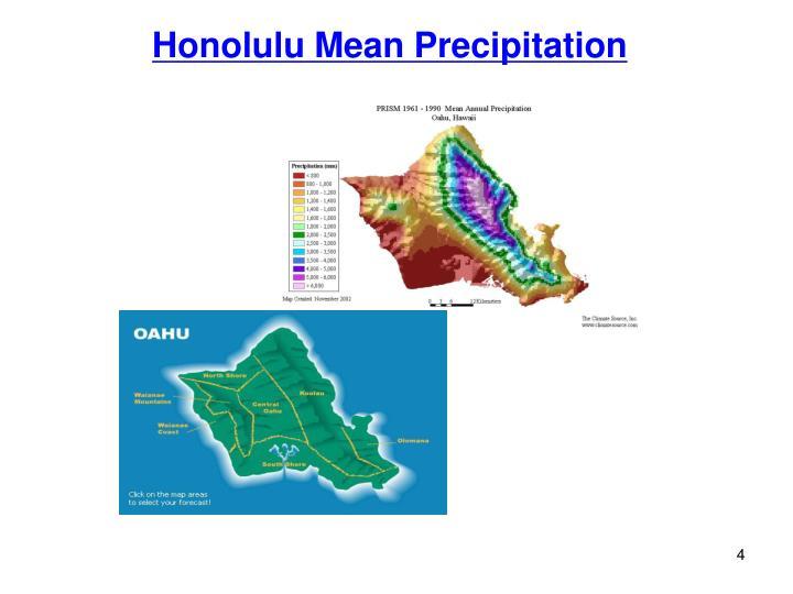 Honolulu Mean Precipitation