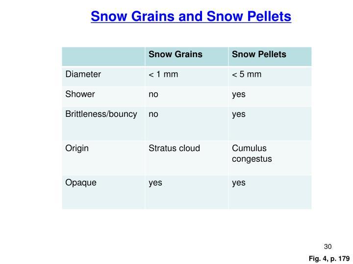 Snow Grains and Snow Pellets