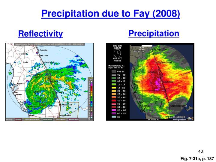 Precipitation due to Fay (2008)