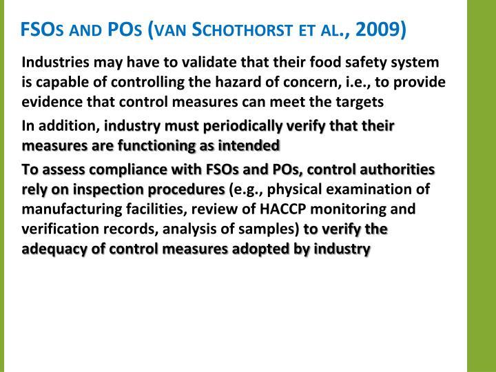 FSOs and POs (van