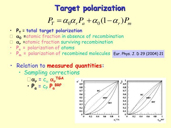 Eur. Phys. J. D 29 (2004) 21