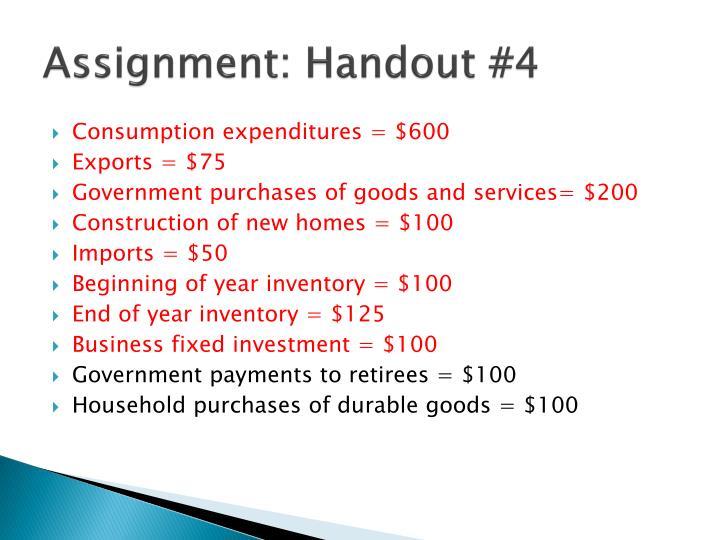 Assignment: Handout #4