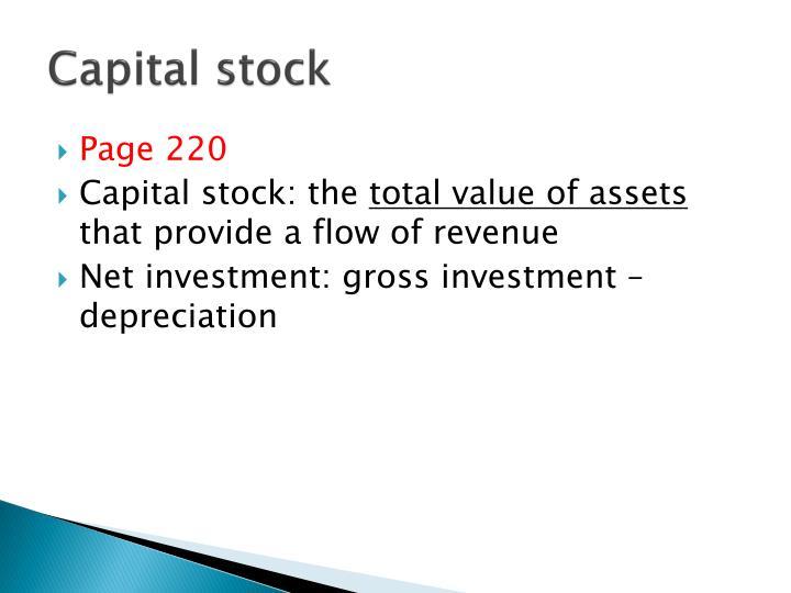 Capital stock