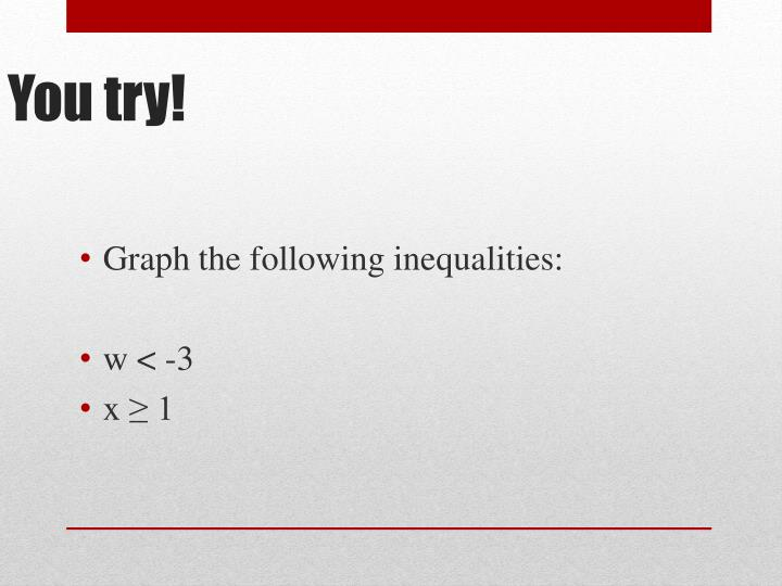 Graph the following inequalities: