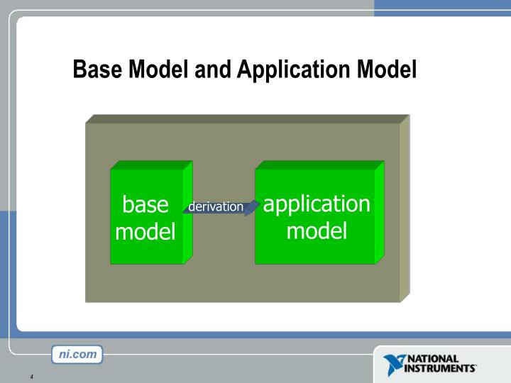 Base Model and Application Model