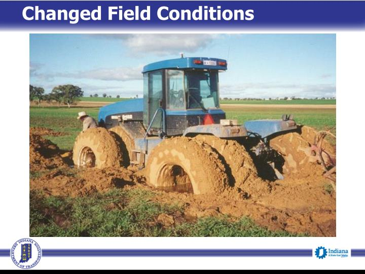 Changed Field Conditions