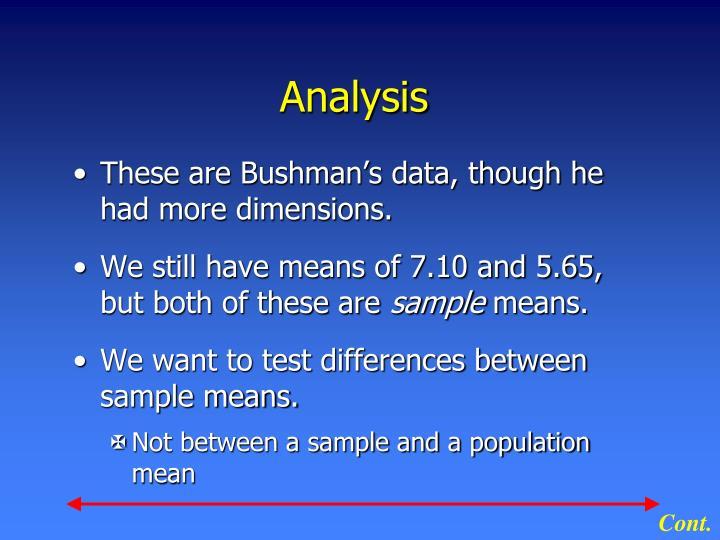 Analysis