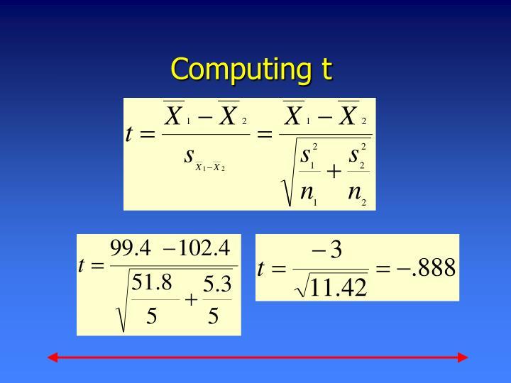 Computing t
