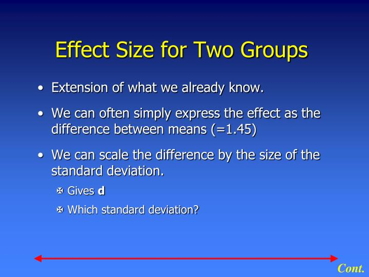 Effect Size for Two Groups