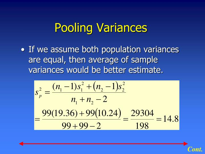 Pooling Variances
