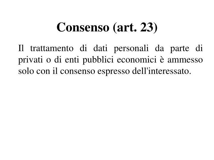 Consenso (art. 23)