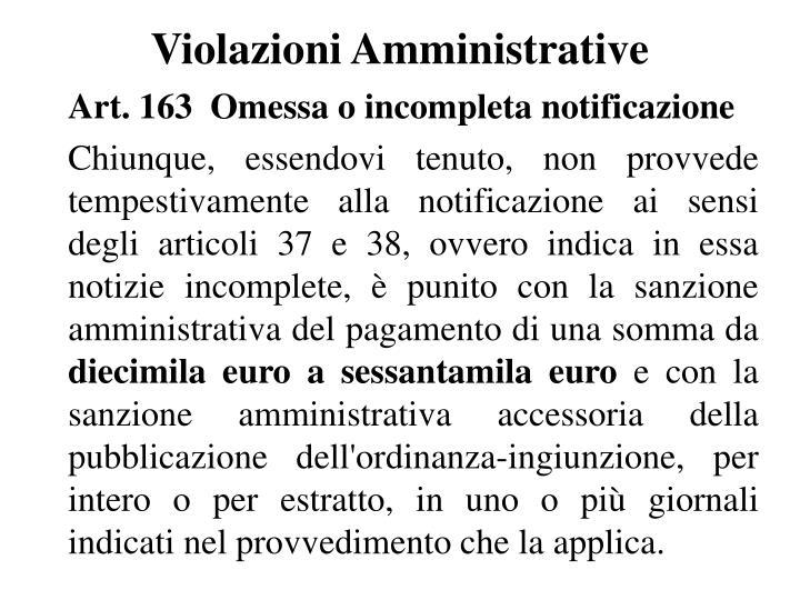 Violazioni Amministrative