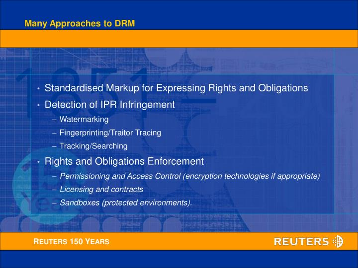 Many Approaches to DRM
