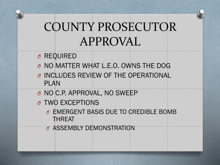 COUNTY PROSECUTOR APPROVAL