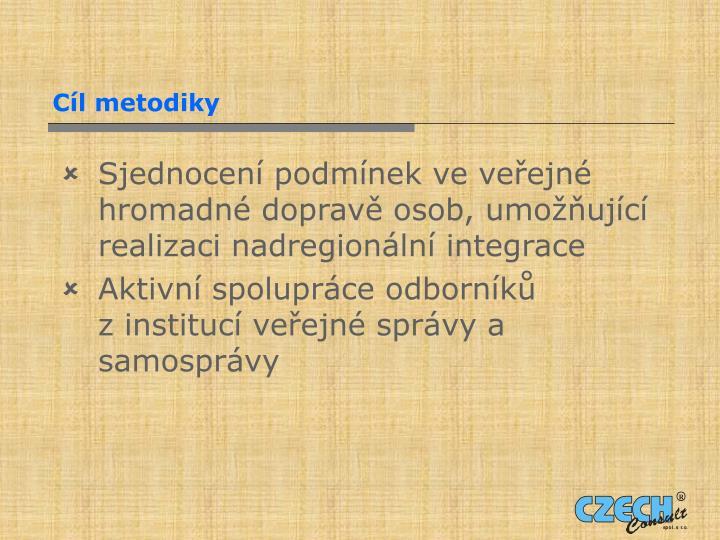 Cíl metodiky