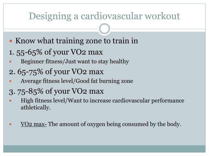 Designing a cardiovascular workout