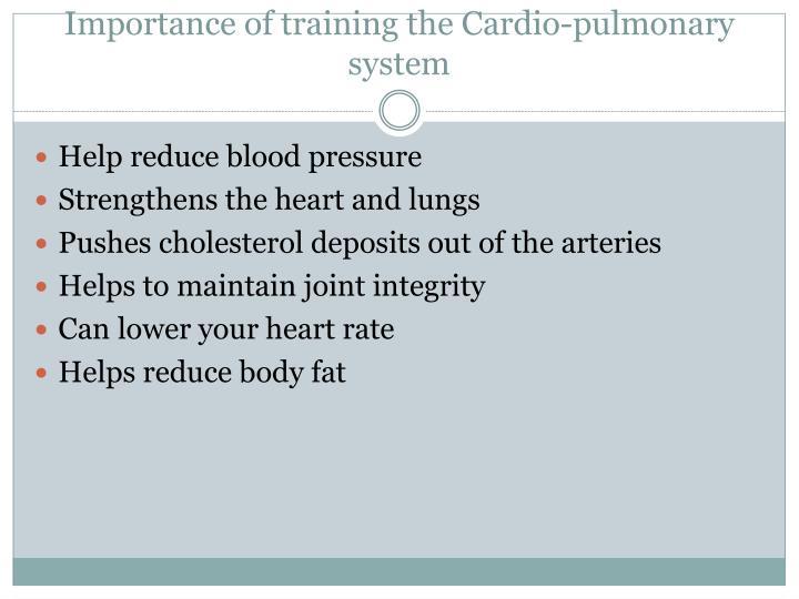 Importance of training the Cardio-pulmonary system