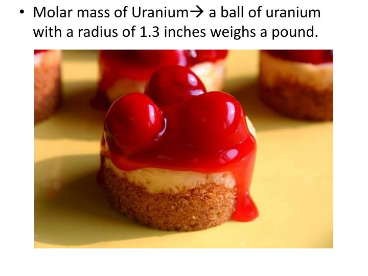 Molar mass of Uranium