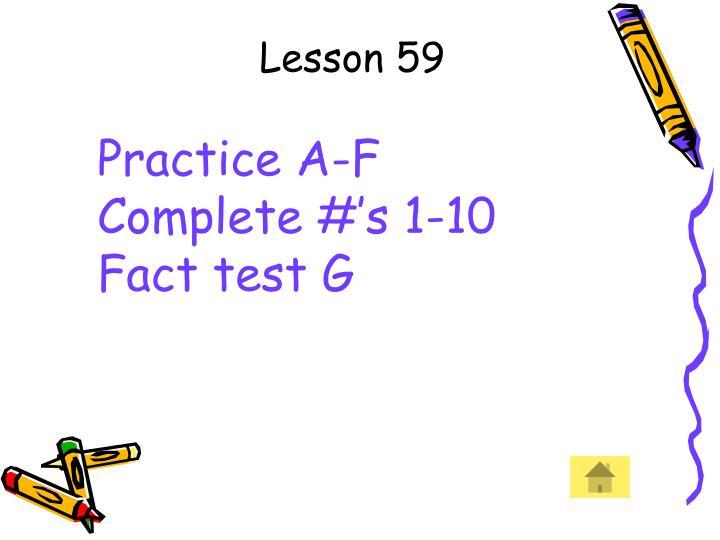 Lesson 59