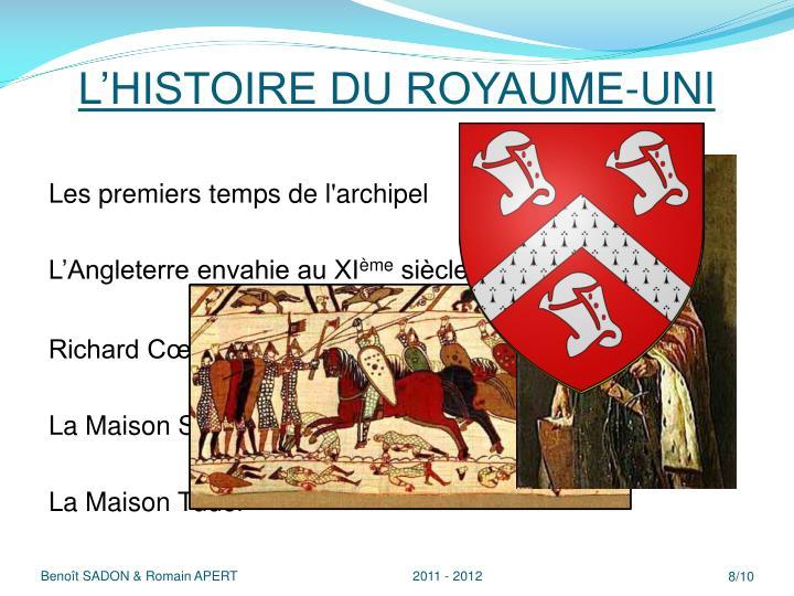 L'HISTOIRE DU ROYAUME-UNI