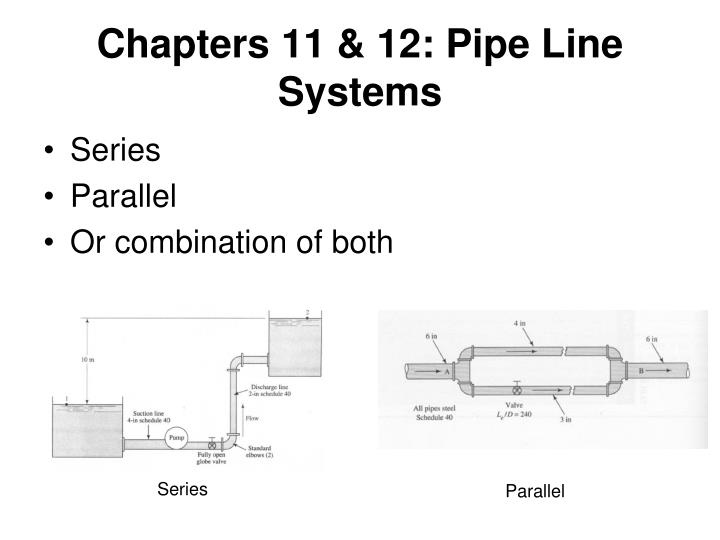 Chapters 11 & 12: Pipe Line Systems