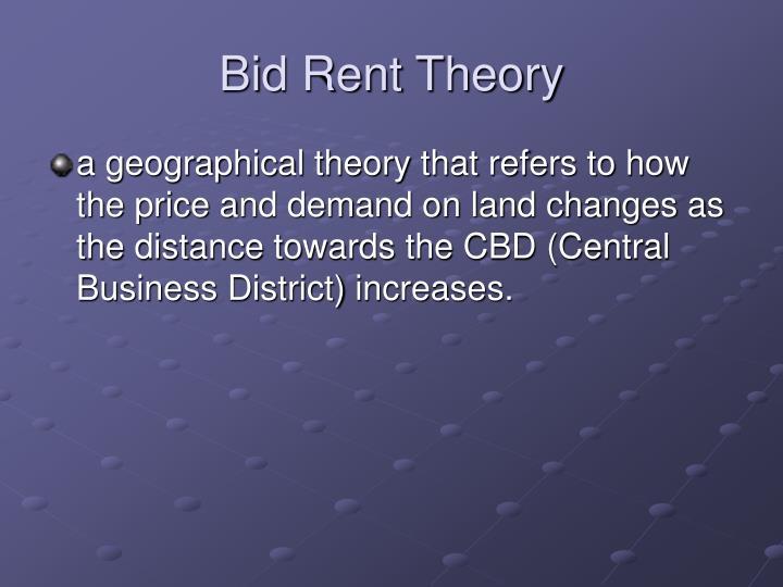 Bid Rent Theory