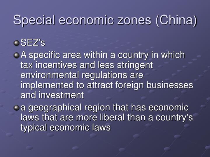 Special economic zones (China)