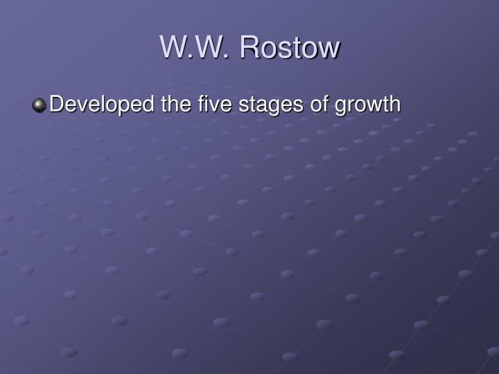 W.W. Rostow