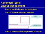 advanced topic layout management2