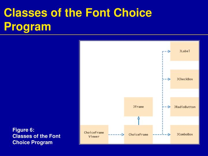 Classes of the Font Choice Program