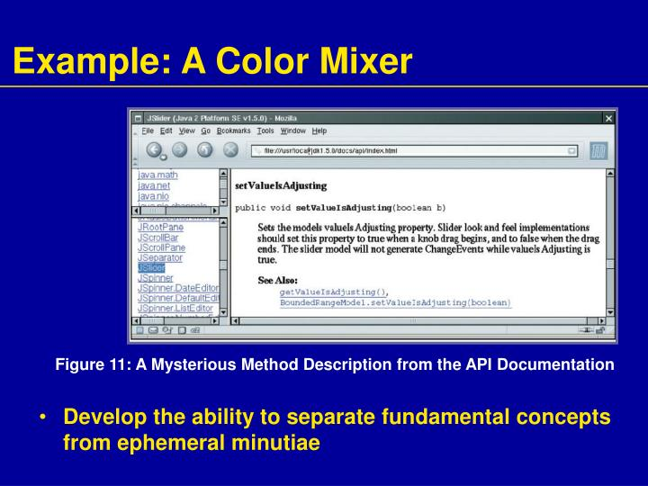 Example: A Color Mixer