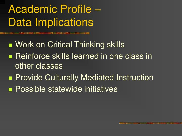 Academic Profile –