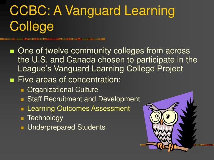 CCBC: A Vanguard Learning College
