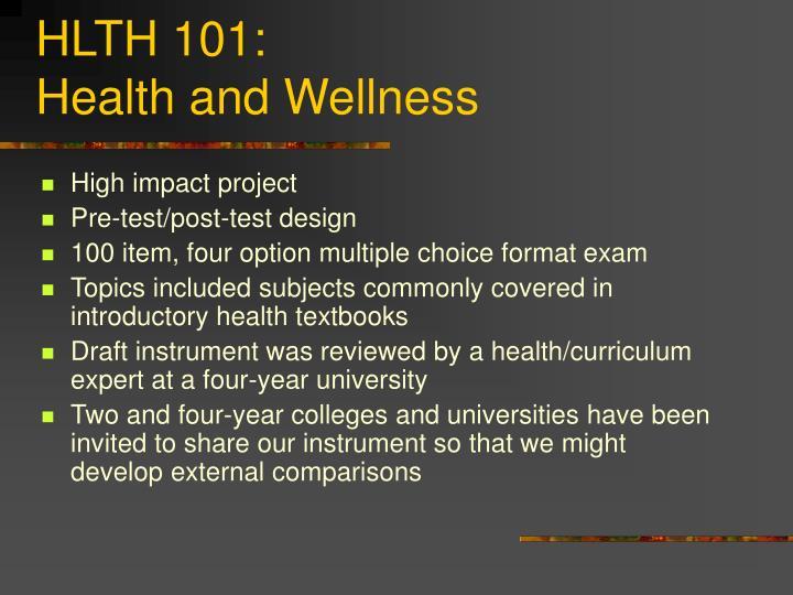 HLTH 101: