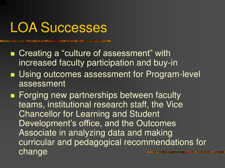LOA Successes