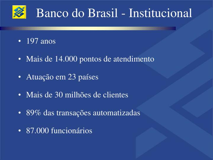 Banco do Brasil - Institucional