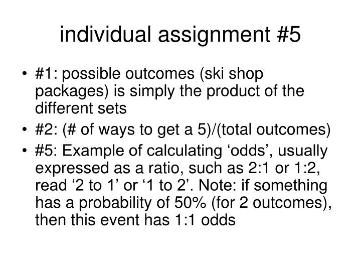 individual assignment #5