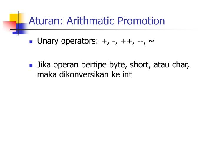 Aturan: Arithmatic Promotion